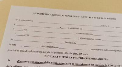 COVID19 – Il modulo di autodichiarazione per gli spostamenti in Campania