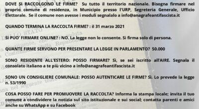 Proposta di legge contro la propaganda fascista e nazista, raccolta firme anche a Forio